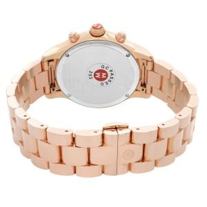 Michele Jetway Rose Gold Diamond 0.5cttw Bezel MOP Ladies Watch MWW17A000012