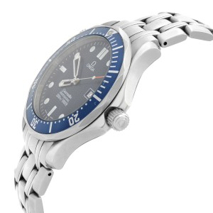 Omega Seamaster 41mm Stainless Steel Blue Wave Dial Quartz Mens Watch 2541.80.00