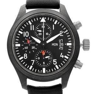 IWC Pilots Top Gun 44mm PVD Titanium Black Dial Automatic Mens Watch IW378901