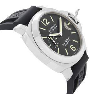 Panerai Luminor Marina Stainless Steel Automatic Black Dial Mens Watch PAM00104