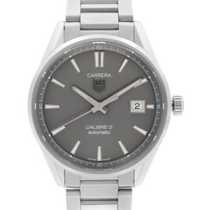 TAG Heuer Carrera Stainless Steel Grey Dial Automatic Mens Watch WAR211C
