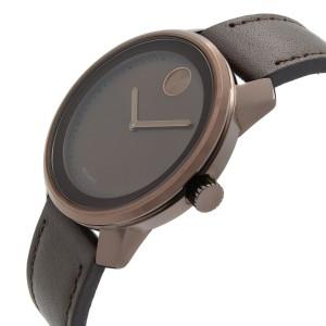 Movado Bold Stainless Steel Gunmetal Brown Dial Quartz Unisex Watch 3600377