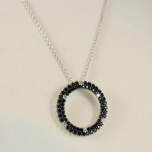 Roberto Coin Fantasia Sterling Silver Black Sapphire, Diamond Necklace