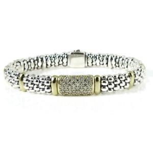 Lagos Caviar Rouche Sterling Silver Diamond Bracelet