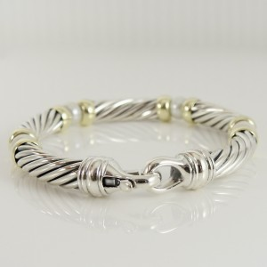 David Yurman Hampton Sterling Silver Pearl Bracelet