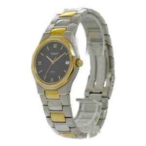 TISSOT PRX P580-W Date black Dial SS/GP Quartz Men's Watch