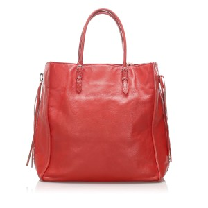 Papier A4 Leather Zip-Around Tote