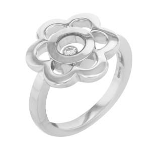 Chopard 18K White Gold, 14K Yellow Gold Diamond Ring