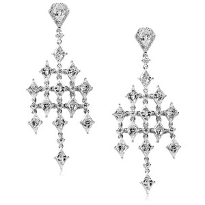 Diamond Earrings 4 1/3ct.tw 14k White Gold