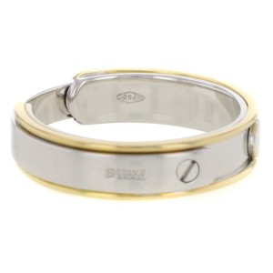 Baraka 18K White and Yellow Gold Two-Tone Ring Size 12.25