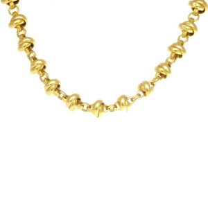 Tiffany & Co. Paloma Piccaso 18K Yellow Gold Knot Chain Necklace