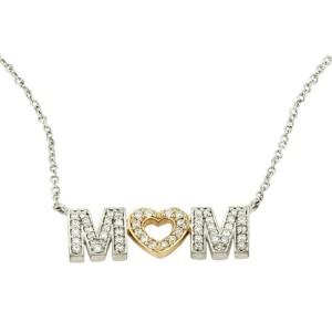 73f061620 Tiffany & Co. White Gold Diamond MOM Pendant Necklace | Tiffany & Co ...