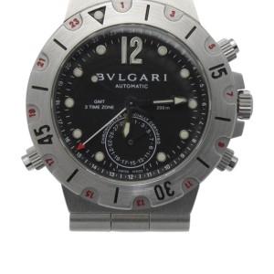 Bvlgari Bulgari Diagono Pro Acqua GMT Scuba SD38S Stainless Steel 38mm Watch