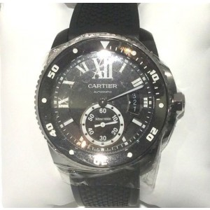 Cartier Calibre Carbon Diver Stainless Steel 42mm Watch