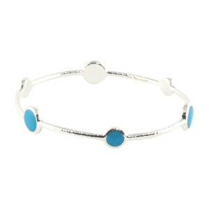 Ippolita Sterling Silver Blue Howlite Stone Bangle Bracelet