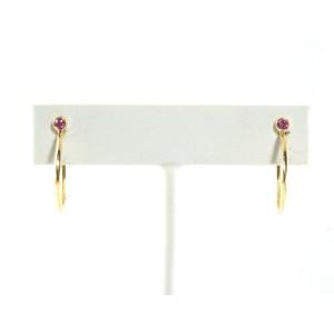 Ippolita 18K Yellow Gold Pink Sapphire Hoop Earrings