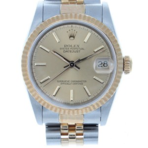 Rolex 68273 Datejust 31mm Two-Tone Steel & Gold Midsize Watch