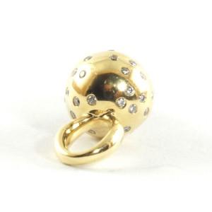 Ippolita 18K Yellow Gold Sterling Silver Diamond Ice Cream Cone Charm Pendant