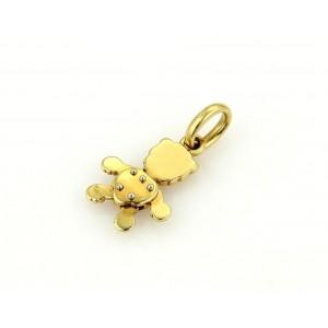 Pomellato 18K Yellow Gold Diamond Animated Lion Pendant Charm