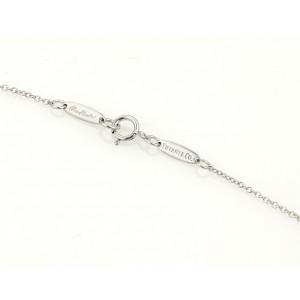 Tiffany & Co. Peretti 18K White Gold Pink Sapphire Pendant Necklace