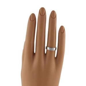Tiffany & Co. 18K White Gold Atlas Diamonds Roman Numeral Band Ring