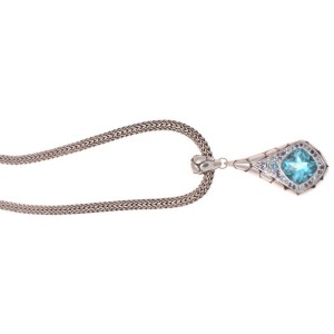 John Hardy Sterling Silver & Blue Topaz Katu Kali Collection Necklace