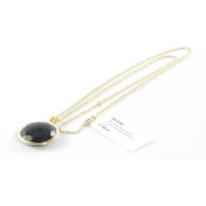 Ippolita 18K Yellow Gold Back Onyx Lollipop Pendant Necklace