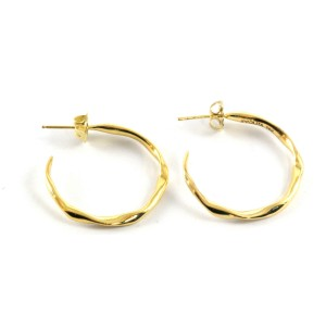 Ippolita 18K Yellow Gold Plain Squiggle Hoop Earrings