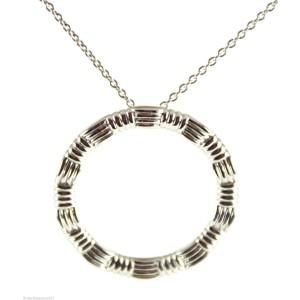 Roberto Coin 18K White Gold Circle Pendant Necklace