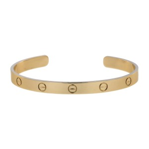 Cartier Love 18K Rose Gold Cuff Bracelet Size 19