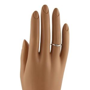 Tiffany Co Elsa Peretti Platinum Curved Wedding Band Ring In Size 4 5