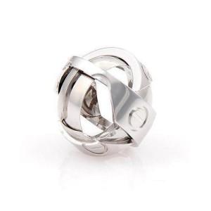 Cartier Secret Astro Love 18K White Gold Pendant/Band Ring Size 5