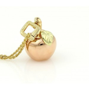 Louis vuitton 18k rose and yellow gold gold apple pendant chain louis vuitton 18k rose and yellow gold gold apple pendant chain necklace aloadofball Image collections