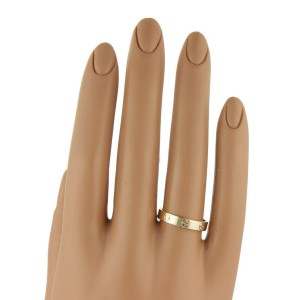 Cartier Mini Love 18K Rose Gold Ring Band Size 4.75