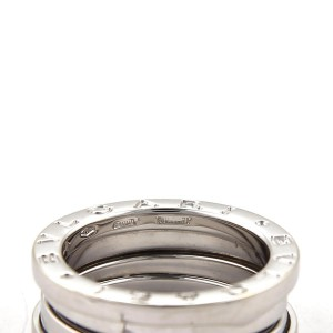 Bulgari B Zero-1 18K White Gold Band Ring Size 5.5
