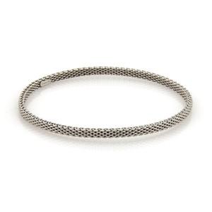 Tiffany & Co. Somerset 18K White Gold Mesh Design Bangle Bracelet