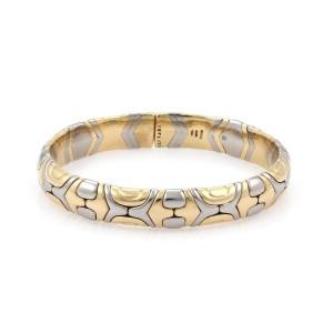 Bulgari Parentesi 18K Yellow Gold & Stainless Steel Flex Cuff Bracelet
