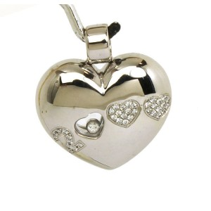 Chopard Happy Diamonds 18K White Gold with Diamond 0.25ctw Heart Pendant