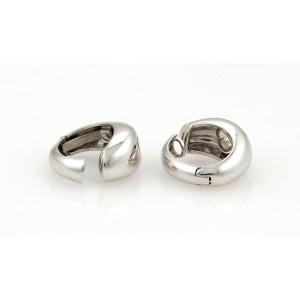 Chopard Happy Diamonds 18K White Gold with Diamond 0.06ct Heart Hoop Earrings