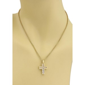 Chopard Happy Diamond 18K Yellow Gold Cross Pendant & Chain Necklace