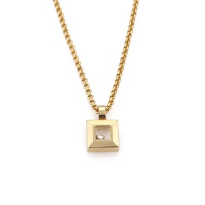 Chopard Happy Diamond 18K Yellow Gold with 0.05ct Diamond Pendant & Chain Necklace