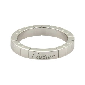 Cartier Lanier Platinum Band Ring Size 6