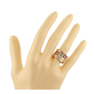 Cartier Ring 18k Yellow Gold Diamond Sapphire Size 3.75
