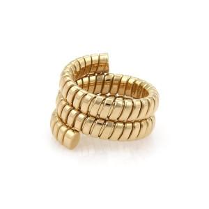 Bulgari Tubogas 18K Yellow Gold Ring