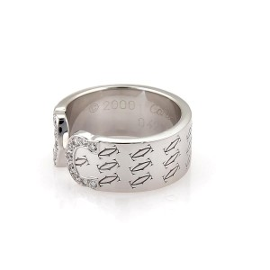 Cartier 18K White Gold with Diamond Ring Size 5