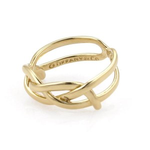 Tiffany & Co. 18K Yellow Gold Infinity Vintage Band Ring Size 6