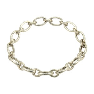 Tiffany & Co. Picasso 925 Sterling Silver Hammered Clasping Link Bracelet