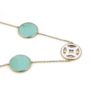 Ippolita 18K Yellow Gold with Mother Of Pear and Turquoise Necklace