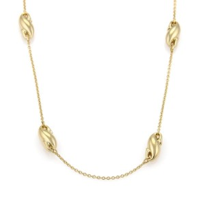 Tiffany & Co. Peretti 18K Yellow Gold Seahorse Charms Chain Necklace