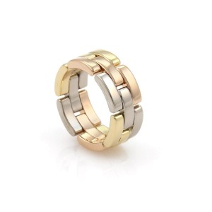 Cartier Ring 18k White Yellow Rose Gold Size 6.25